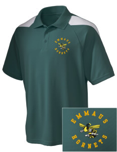 Emmaus High School Hornets Embroidered Holloway Men's Frequency Performance Pique Polo