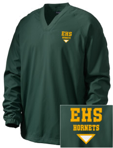 Emmaus High School Hornets Embroidered Men's V-Neck Raglan Wind Shirt