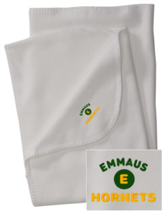 Emmaus High School Hornets Embroidered Fleece Receiving Blanket