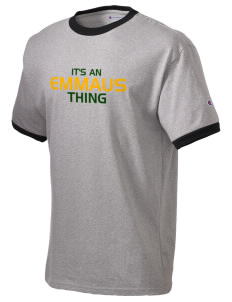 Emmaus High School Hornets Champion Men's Ringer T-Shirt
