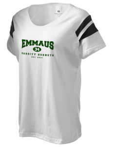 Emmaus High School Hornets Holloway Women's Shout Bi-Color T-Shirt