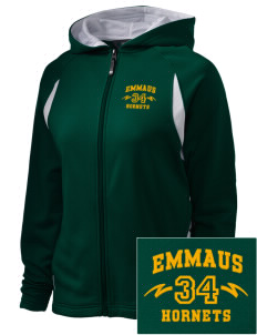 Emmaus High School Hornets Embroidered Holloway Women's Synergy Bi-Color Hooded Jacket