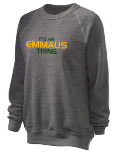 Emmaus High School Hornets Unisex Alternative Eco-Fleece Raglan Sweatshirt