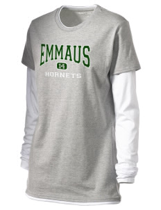 Emmaus High School Hornets Women's Long Sleeve Double Layer T-Shirt