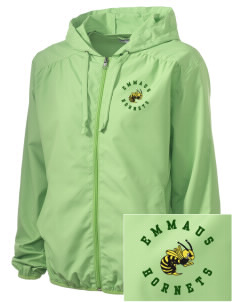 Emmaus High School Hornets Embroidered Women's Hooded Essential Jacket