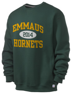 Emmaus High School Hornets  Russell Men's Dri-Power Crewneck Sweatshirt