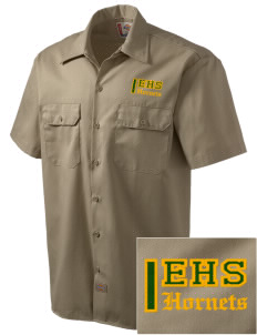 Emmaus High School Hornets Embroidered Dickies Men's Short-Sleeve Workshirt