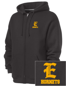Emmaus High School Hornets  Embroidered Russell Men's Dri-Power Fleece Full Zip Hooded Sweatshirt