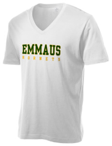 Emmaus High School Hornets Alternative Men's 3.7 oz Basic V-Neck T-Shirt