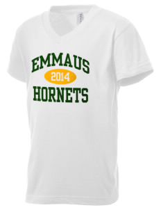 Emmaus High School Hornets Kid's V-Neck Jersey T-Shirt