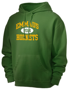 Emmaus High School Hornets Men's 80/20 Pigment Dyed Hooded Sweatshirt