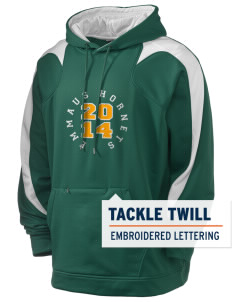 Emmaus High School Hornets Holloway Men's Sports Fleece Hooded Sweatshirt with Tackle Twill
