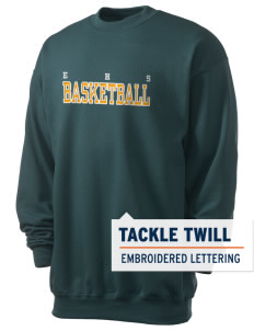 Emmaus High School Hornets Men's 7.8 oz Lightweight Crewneck Sweatshirt with Tackle Twill