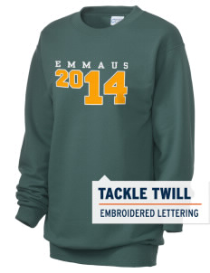 Emmaus High School Hornets Unisex 7.8 oz Lightweight Crewneck Sweatshirt with Tackle Twill