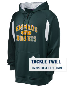 Emmaus High School Hornets Holloway Men's Affliction 1/4 Zip Hooded Sweatshirt with Tackle Twill