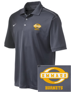 Emmaus High School Hornets Emboridered Nike Golf Mens Sport Swoosh Pique Polo