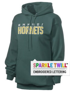 Emmaus High School Hornets Embroidered Unisex 7.8 oz Lightweight Hooded Sweatshirt with Sparkle Twill™