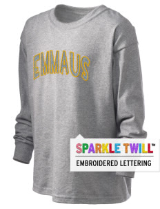 Emmaus High School Hornets Kid's 6.1 oz Long Sleeve Ultra Cotton T-Shirt with Sparkle Twill™