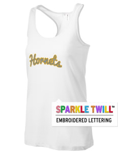 Emmaus High School Hornets Women's Racerback Tank with Sparkle Twill™