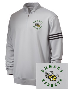 Emmaus High School Hornets Embroidered adidas Men's ClimaLite 3 Stripe 1/4 Zip Pullover