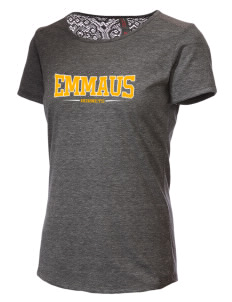 Emmaus High School Hornets Women's Tri-Blend Lace Back T-Shirt