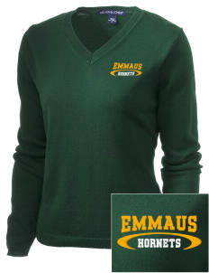 Emmaus High School Hornets Embroidered Women's V-Neck Sweater