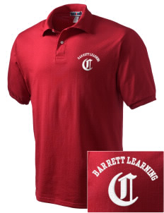 Barrett Learning Center Cardinals Embroidered Men's Jersey Polo