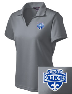 Chukker Creek Elementary School Polo Ponies Embroidered Women's Dri Mesh Polo