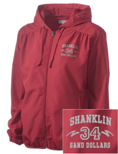 Shanklin Elementary School Sand Dollars Embroidered Women's Hooded Essential Jacket