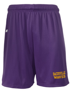 "Dacusville Middle School Waves  Russell Men's Mesh Shorts, 7"" Inseam"