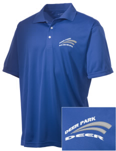 Deer Park Elementary School Deer Embroidered Men's Double Mesh Polo