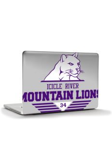 "Icicle River Middle School Mountain Lions Apple MacBook Pro 17"" & PowerBook 17"" Skin"