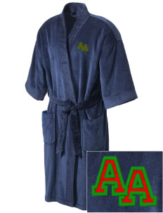African American Academy Panthers Embroidered Terry Velour Robe