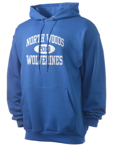 North Woods Elementary School Wolverines Men's 7.8 oz Lightweight Hooded Sweatshirt