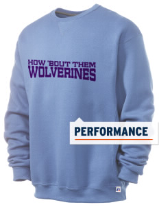 North Woods Elementary School Wolverines  Russell Men's Dri-Power Crewneck Sweatshirt