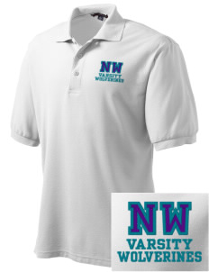 North Woods Elementary School Wolverines Embroidered Tall Men's Silk Touch Polo
