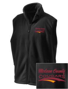 McLean County Middle School Cougars Embroidered Unisex Wintercept Fleece Vest