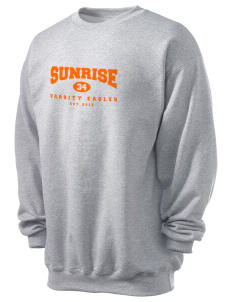 Sunrise School Eagles Men's 7.8 oz Lightweight Crewneck Sweatshirt