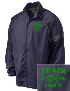 Crain Middle School Comets Embroidered adidas Men's ClimaProof Jacket