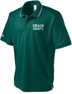Crain Middle School Comets adidas Men's ClimaLite Athletic Polo