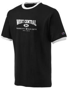 West Central Middle School Wild Cats Champion Men's Ringer T-Shirt