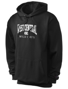 West Central Middle School Wild Cats Champion Men's Hooded Sweatshirt