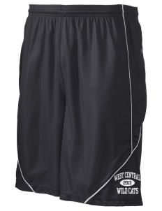 "West Central Middle School Wild Cats Men's Pocicharge Mesh Reversible Short, 9"" Inseam"
