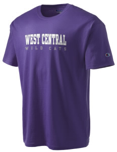 West Central Middle School Wild Cats Champion Men's Tagless T-Shirt