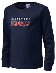 Douglas MacArthur High School Generals  Kid's Long Sleeve T-Shirt