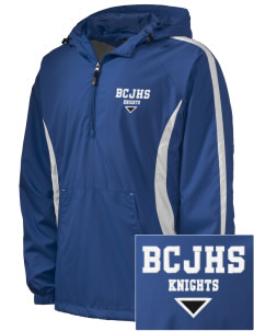 Brookside Christian Junior High School Knights Embroidered Men's Colorblock Raglan Anorak