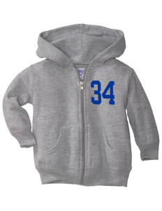 Franklin County Vocational Center Bulldogs  Toddler Hooded Zip Up Sweatshirt w/ Pockets