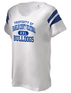 Franklin County Vocational Center Bulldogs Holloway Women's Shout Bi-Color T-Shirt