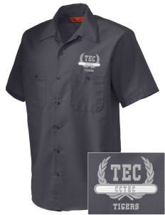 Cumberland County Technical Education Center Tigers Embroidered Men's Cornerstone Industrial Short Sleeve Work Shirt