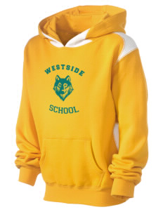 Westside School School Kid's Pullover Hooded Sweatshirt with Contrast Color